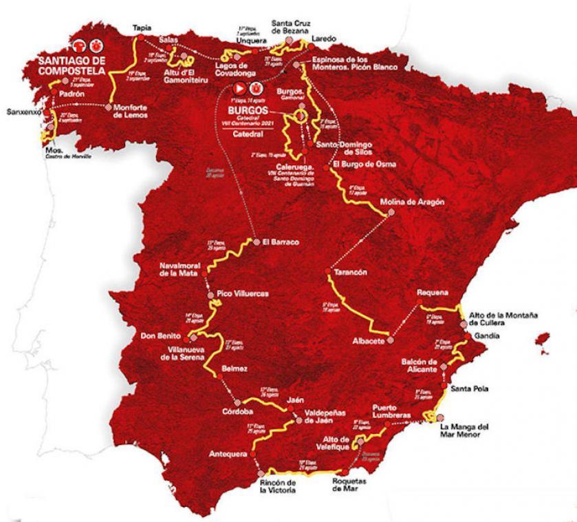 Vuelta 2021 at Costa Blanca and Costa del Sol in Medvilla Spanje