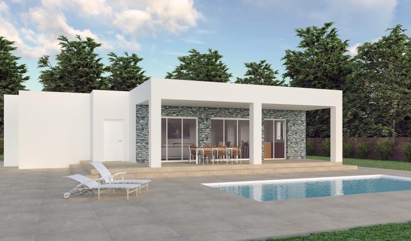 New Villas Off Plan for sale in Hondon de los Frailes, Alicante in Medvilla Spanje