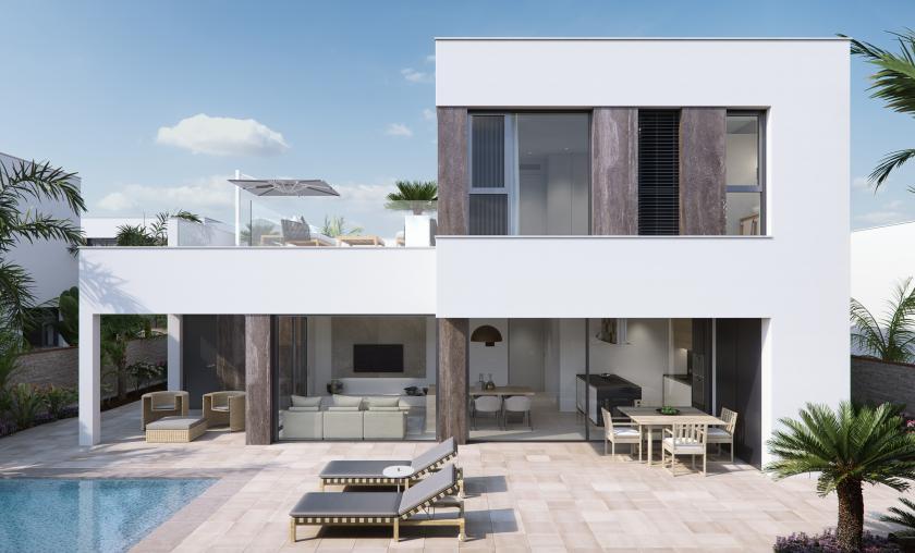 Luxury villa near the beach, Torre de la Horadada, Alicante, Costa Blanca South in Medvilla Spanje