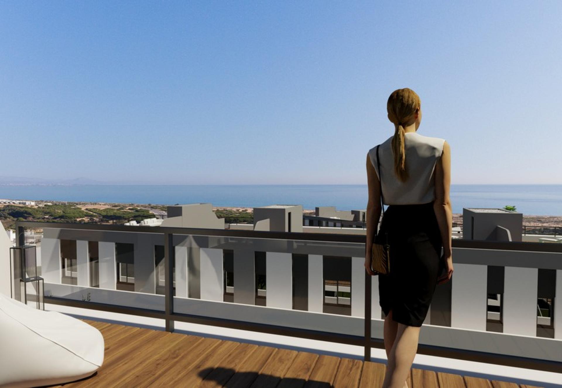 New Build Apartments near Santa Pola, Costa Blanca South in Medvilla Spanje