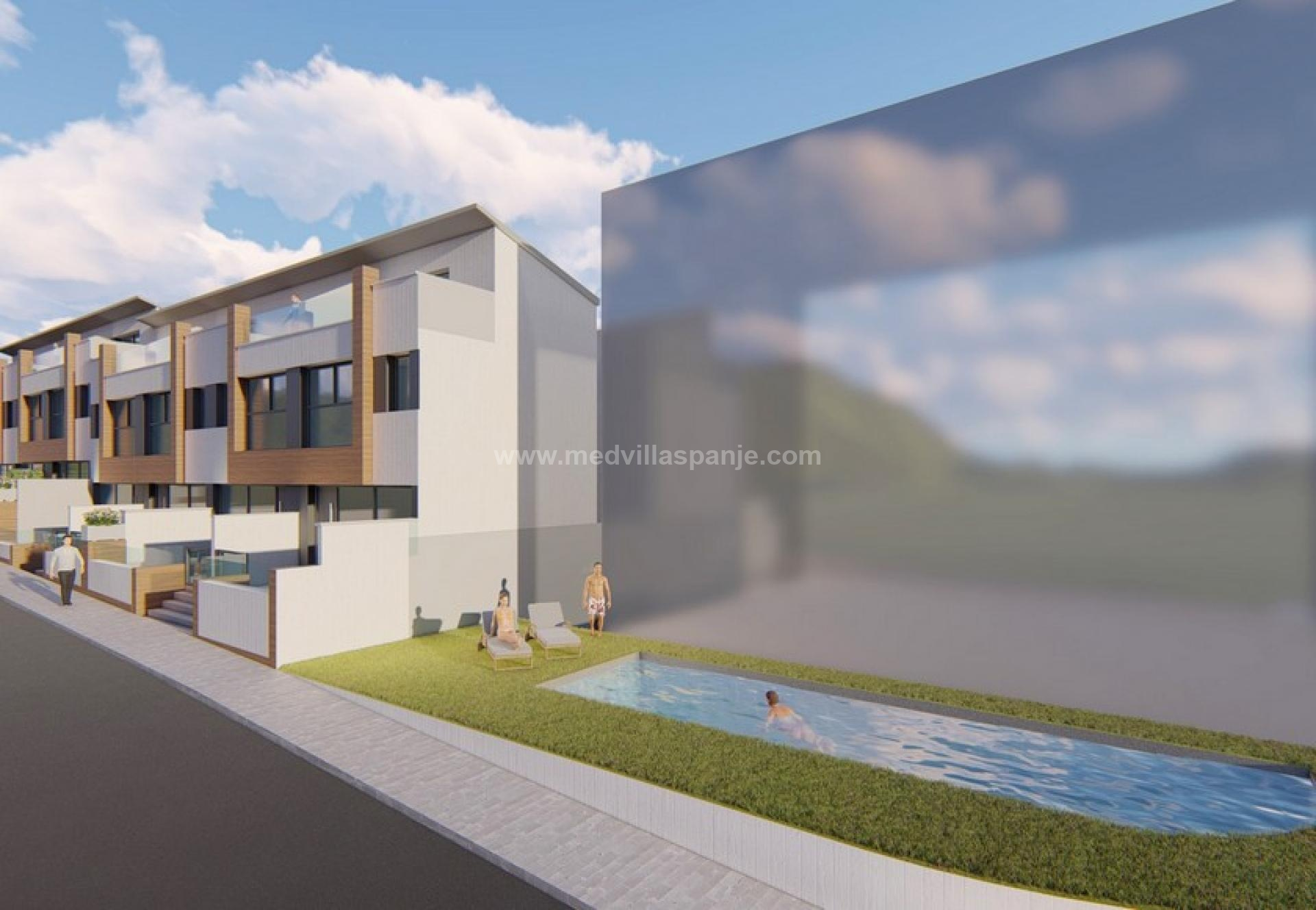 Modern houses with spacious terraces in Guardamar in Medvilla Spanje