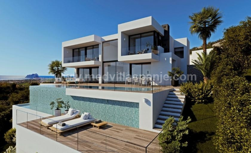 Villa Llebeig luxury modern villa for sale Jazmines Cumbre del Sol in Medvilla Spanje