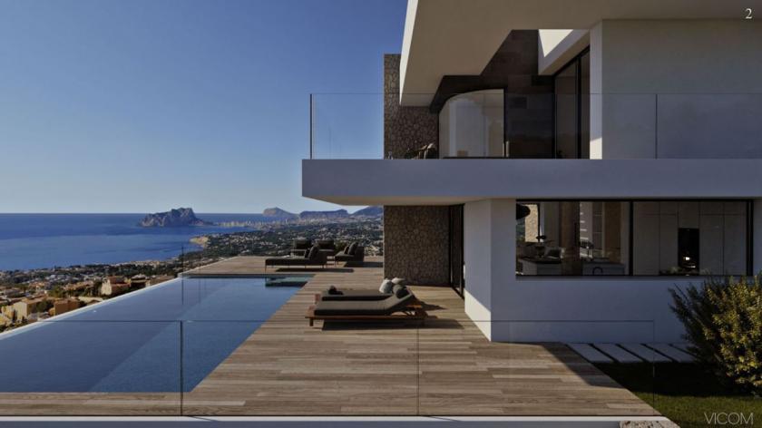 Villa Estrella luxury modern villa for sale Cumbre del Sol in Medvilla Spanje
