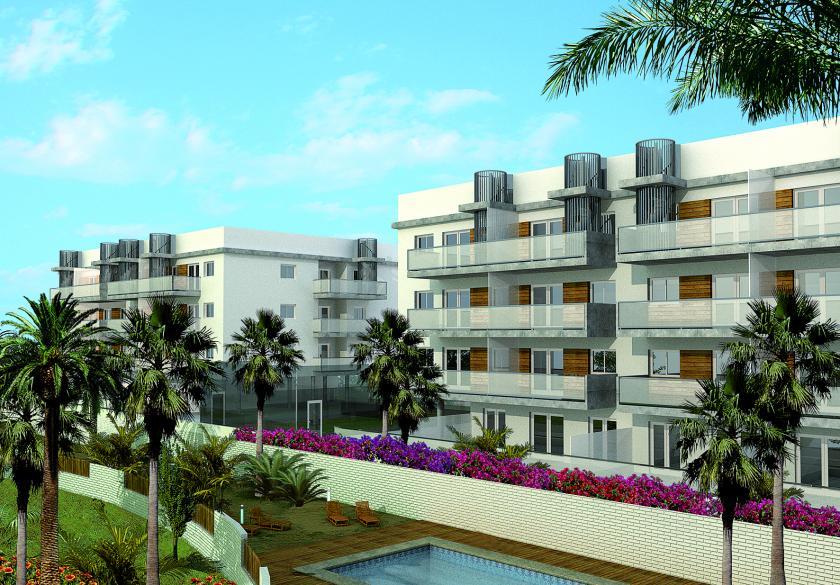 3 bedroom Apartments - solarium in Oliva in Medvilla Spanje