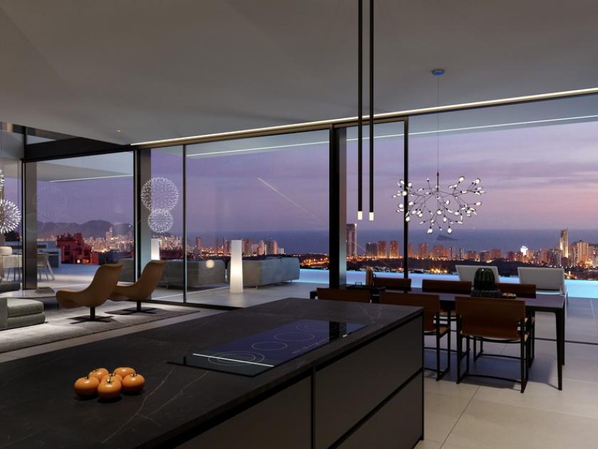 Super Deluxe villa with Sublime sea view in Finestrat in Medvilla Spanje