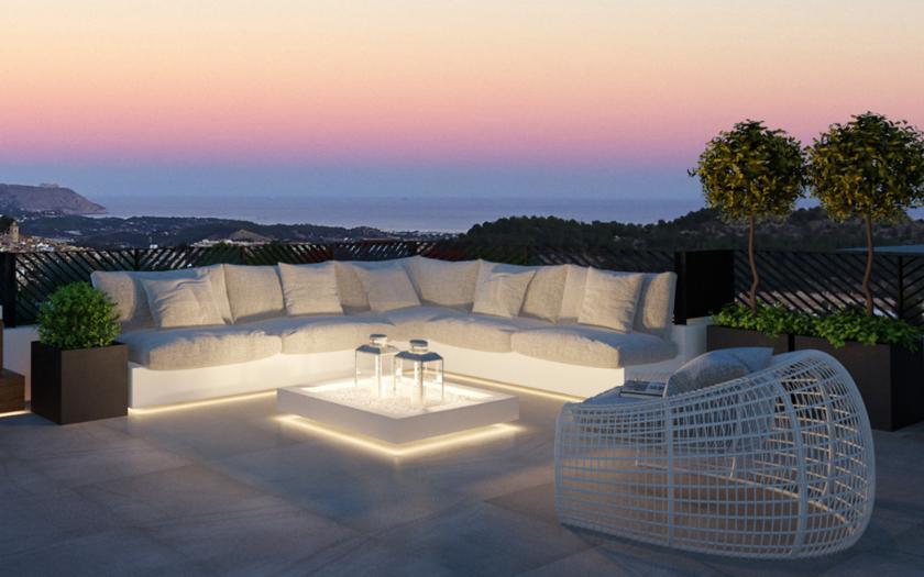 Villa with sea views in Polop Hills - Costa Blanca North in Medvilla Spanje