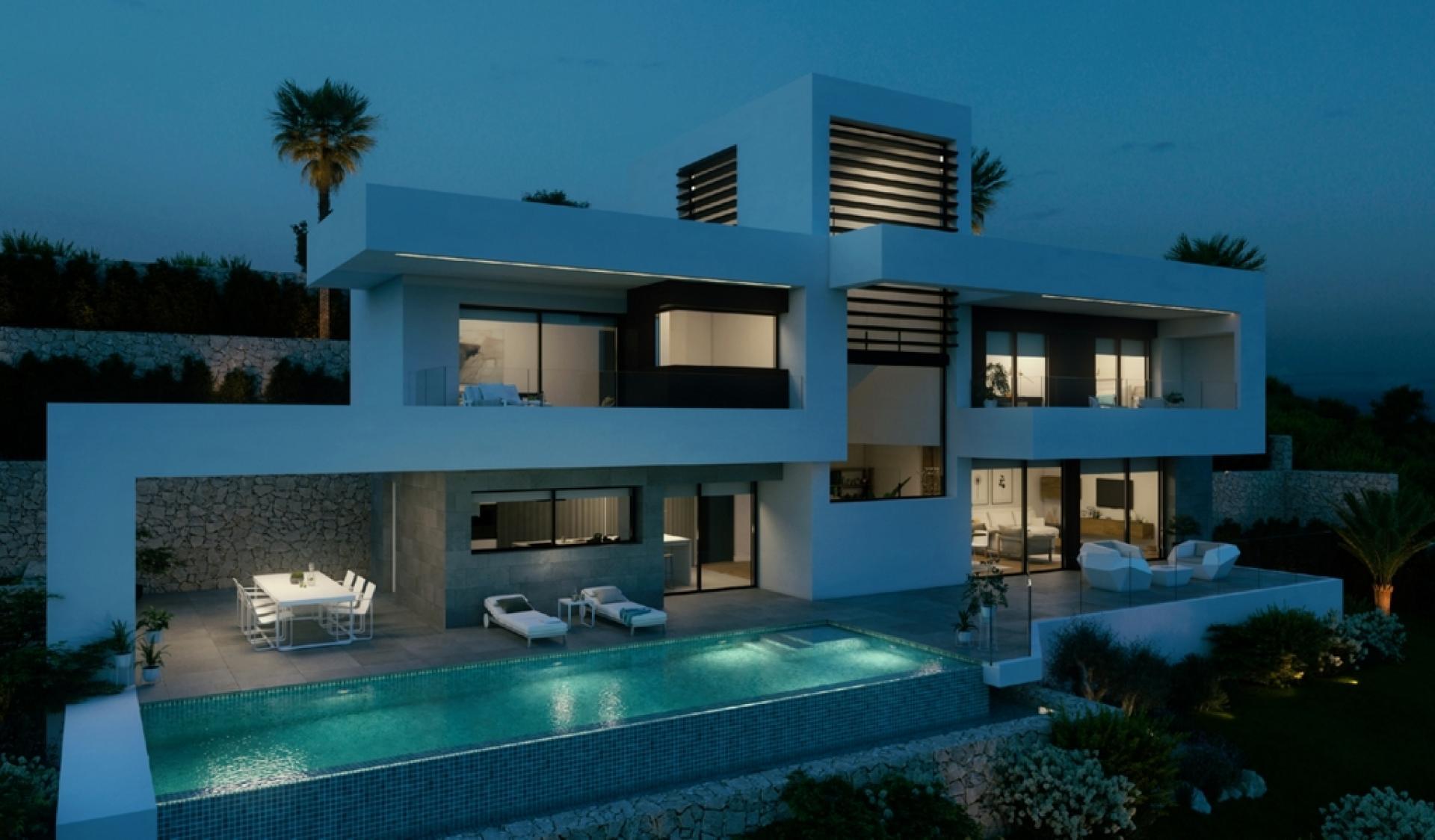 Top villa in Exclusive Area of the Mondaine Seaside Resort of Altea in Medvilla Spanje