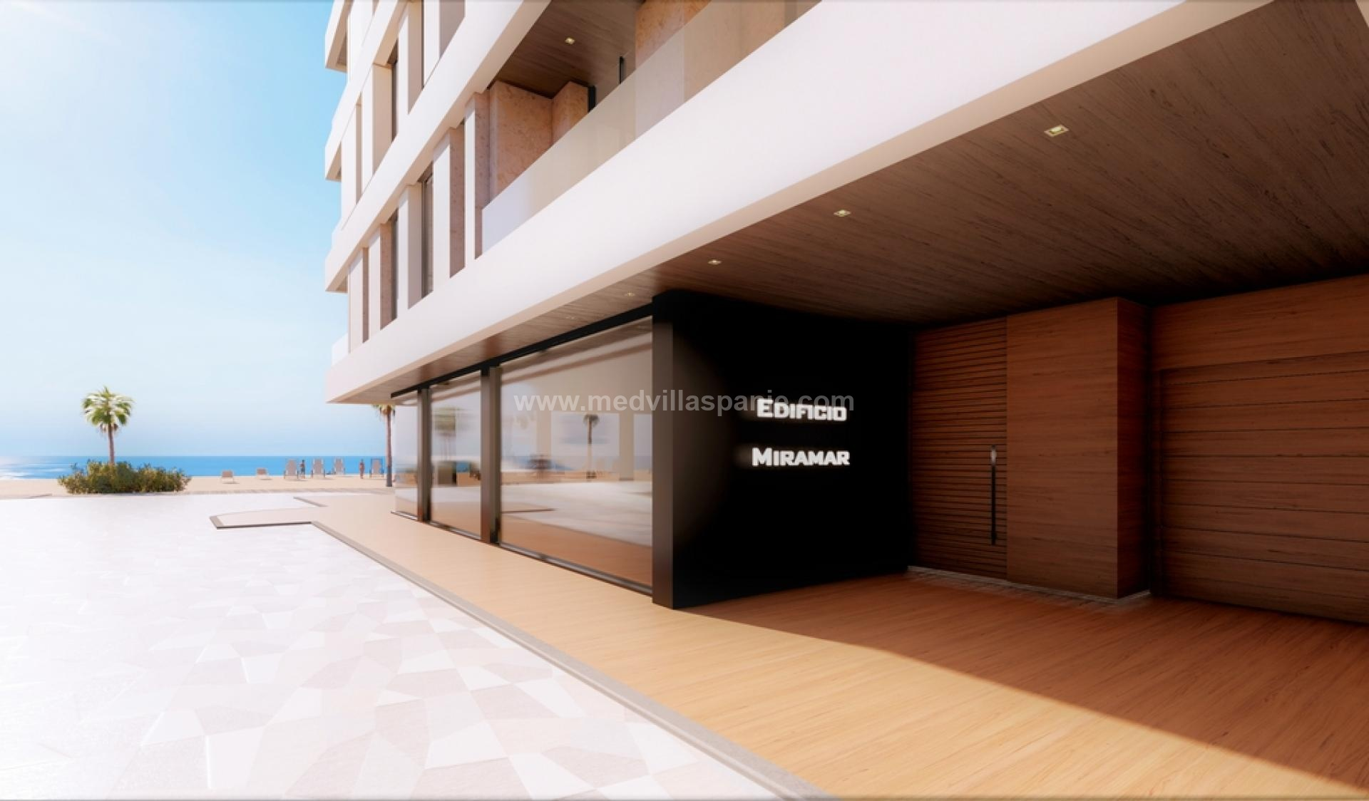 Apartments first beach line located in La Mata, Torrevieja in Medvilla Spanje