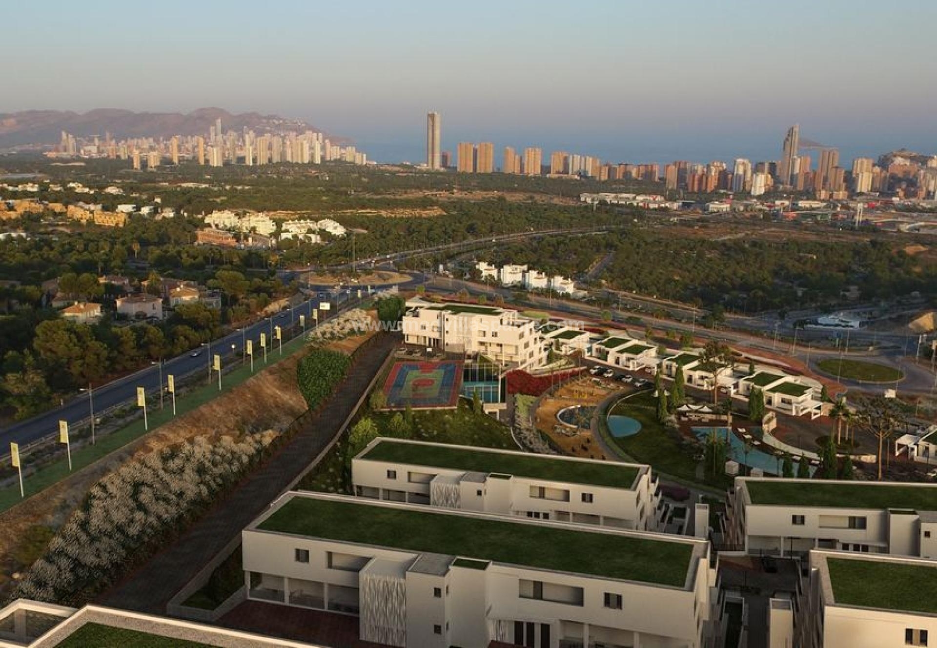 Apartment with sea view in Finestrat, Benidorm in Medvilla Spanje