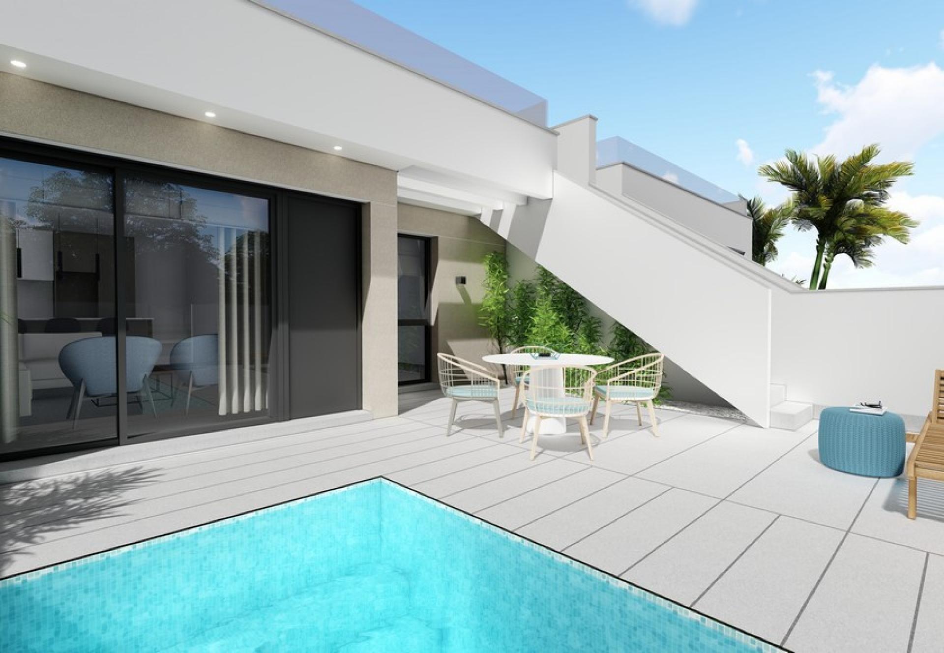 One level villa with solarium for sale Pilar de la Horadada in Medvilla Spanje