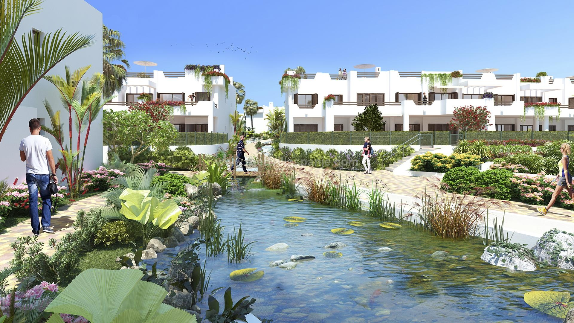 Penthouse 1st line at the sea Mar de Pulpi - phase 6 in Medvilla Spanje