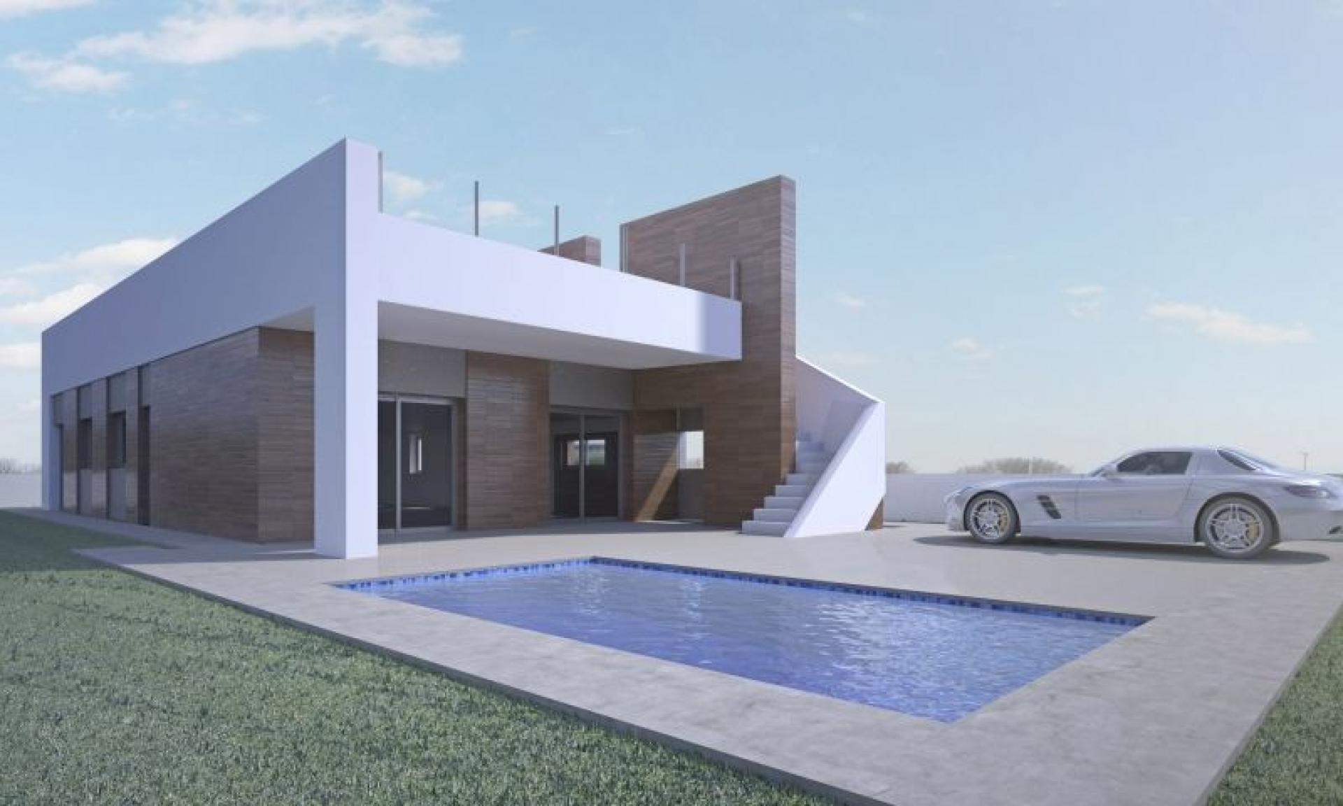 Modern villa within walking distance of historic city Aspe in Medvilla Spanje
