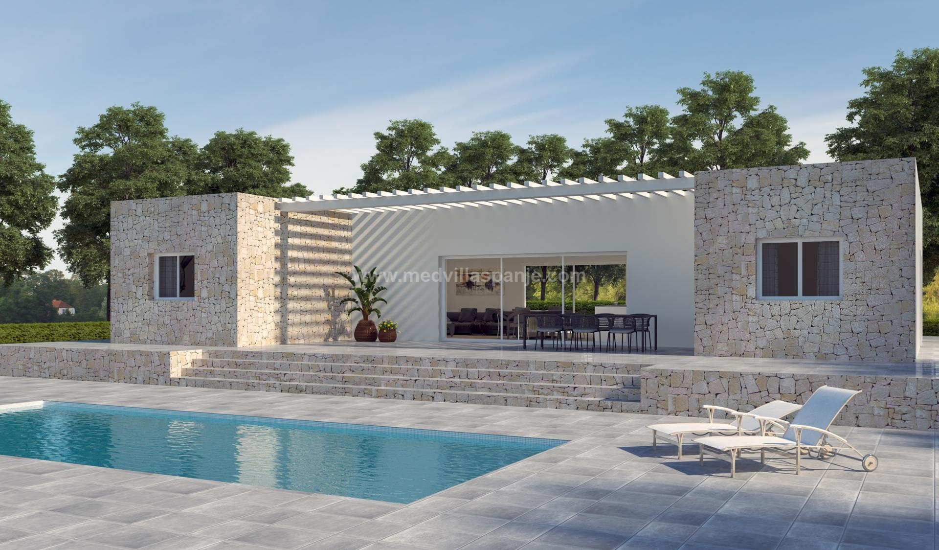 Off-plan villa in Hondon de las Nieves in Medvilla Spanje