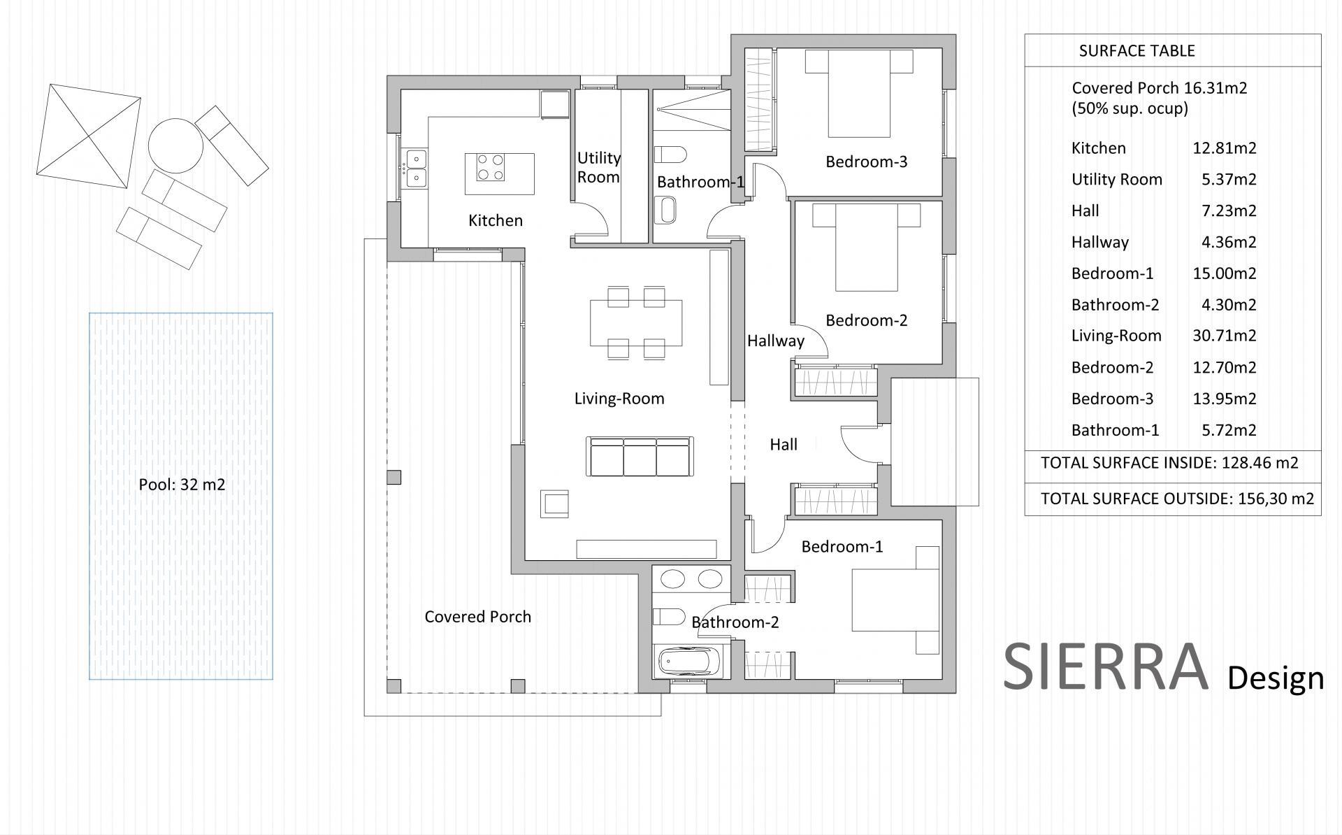 New Villa Off Plan for sale in Macisvenda, Murcia in Medvilla Spanje