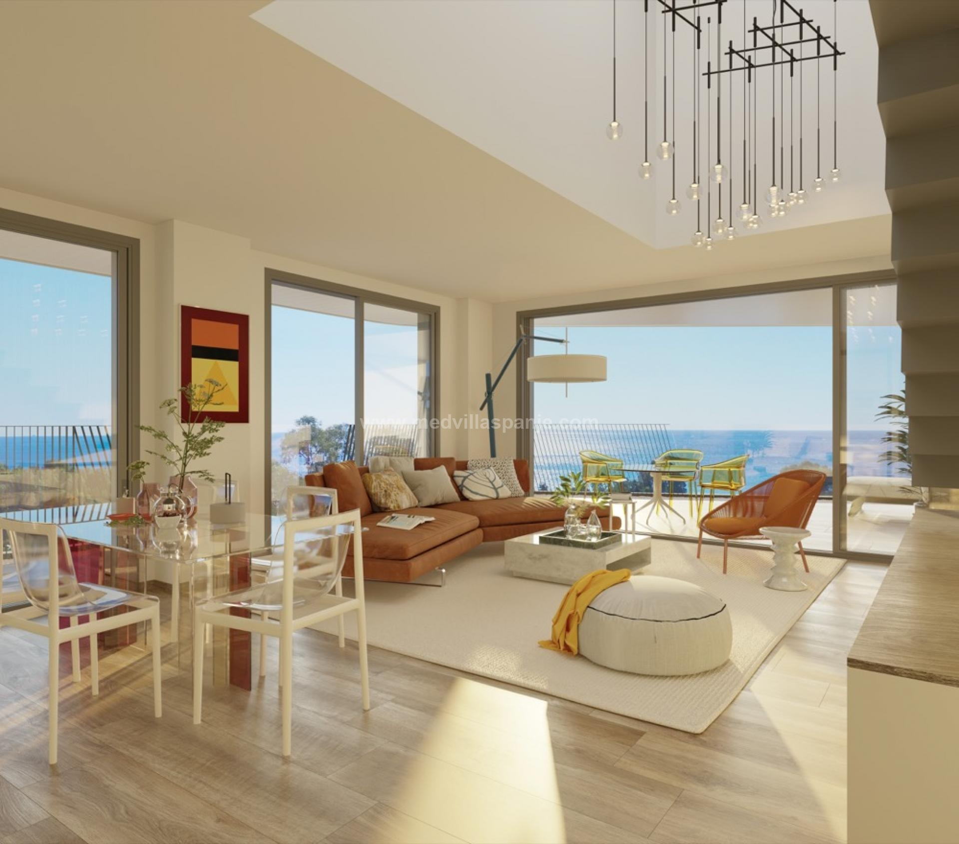 Penthouse with seaview in Villajoyosa, Costa Blanca North in Medvilla Spanje