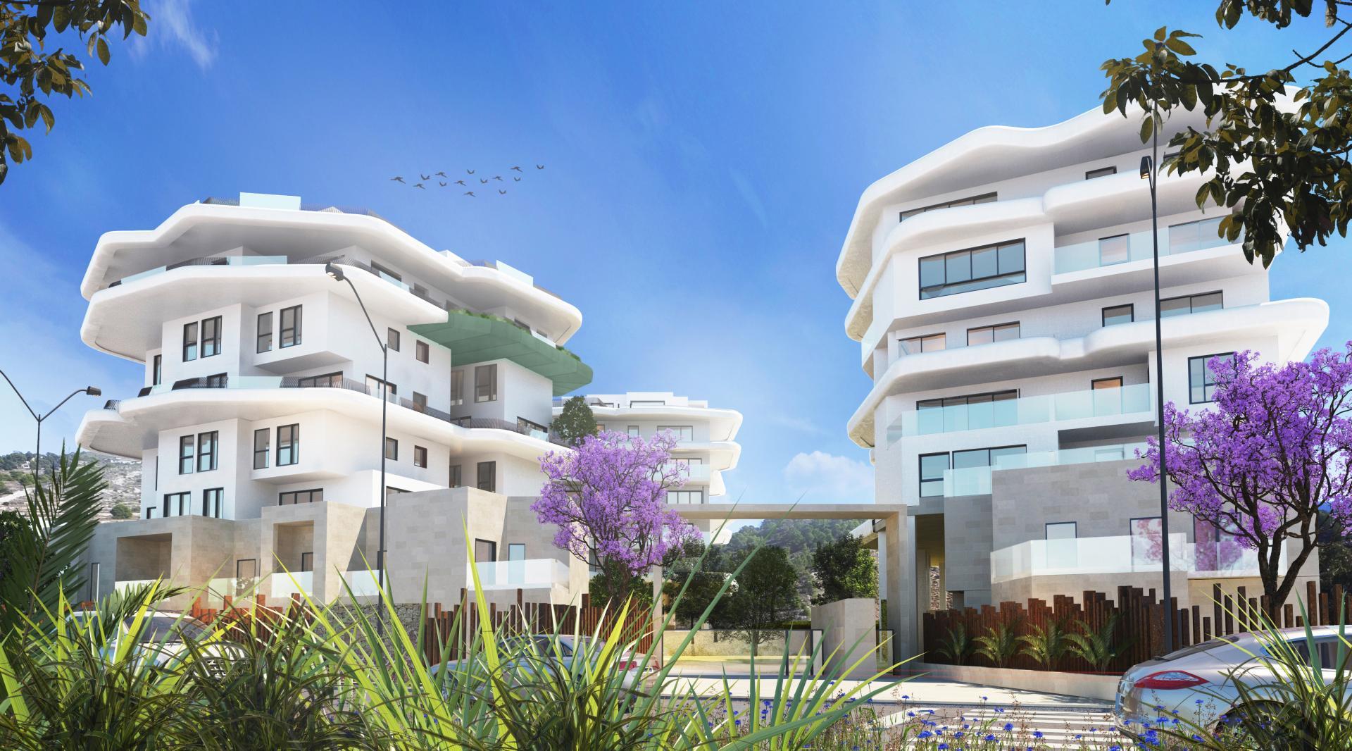 2 bedroom apartment on Villajoyosa beach in Medvilla Spanje