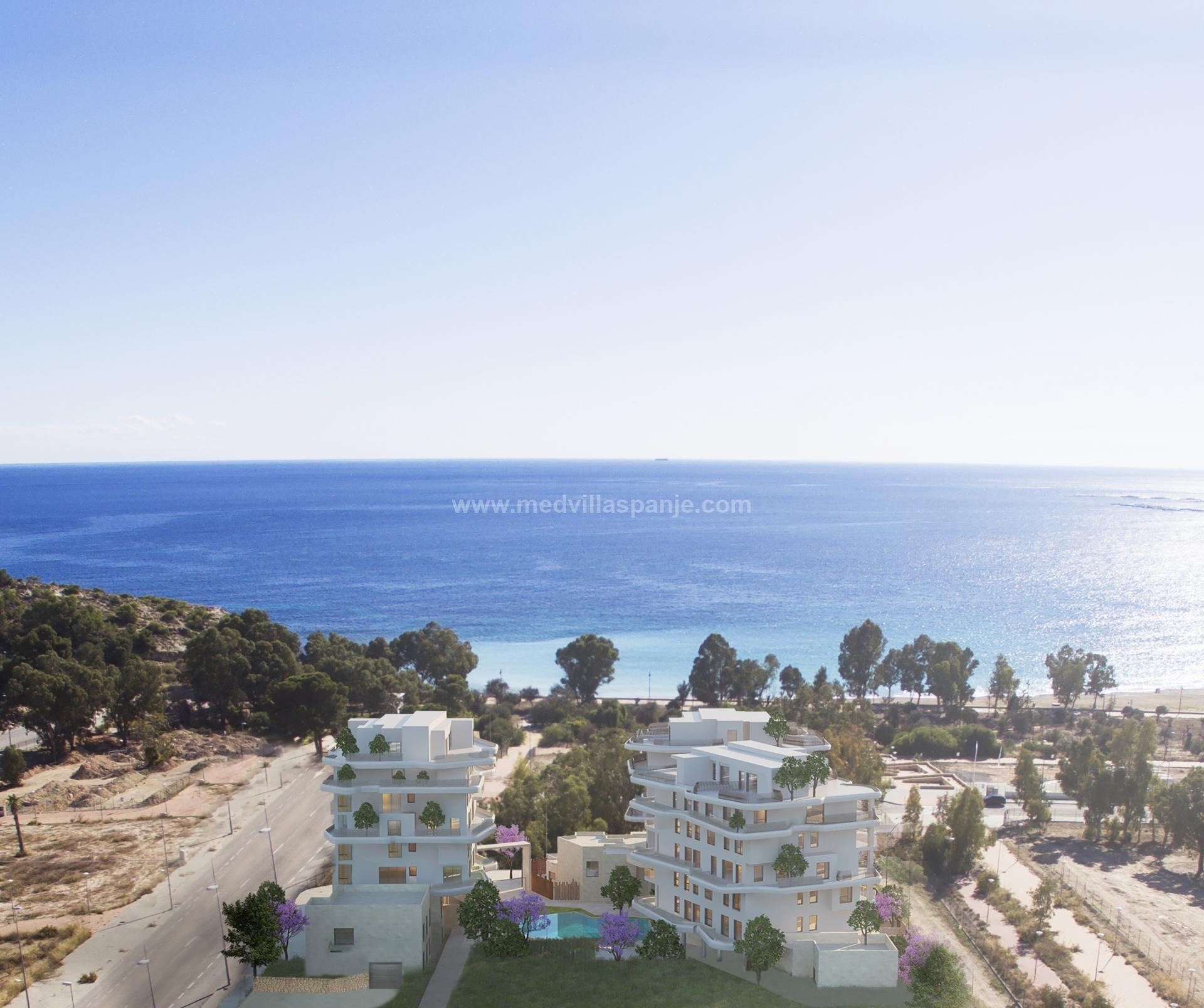 2 bedroom apartment on Villajoyosa beach in Medvilla Spanje