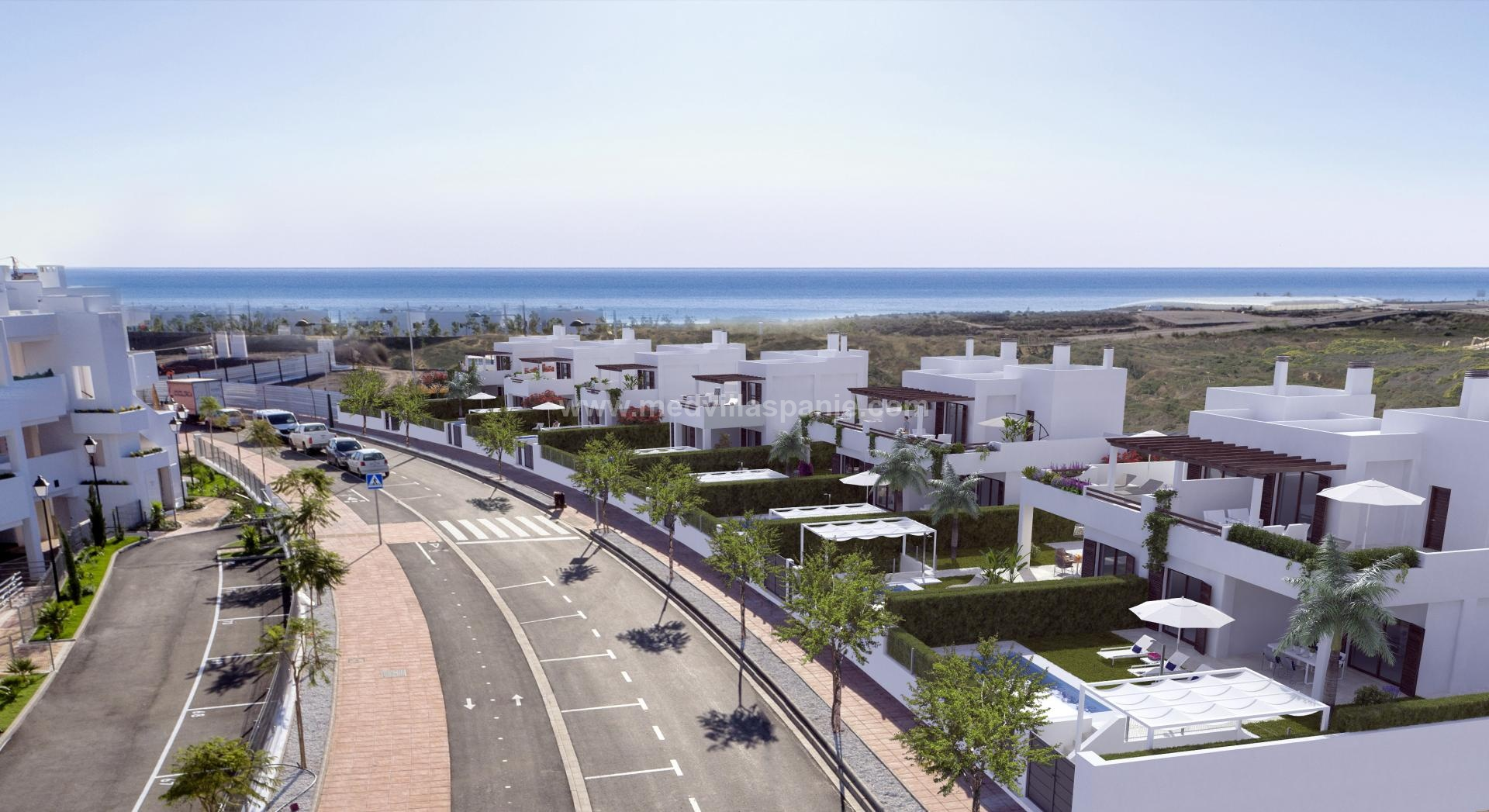 Villas within walking distance of the sea for sale in Mar de Pulpi in Medvilla Spanje